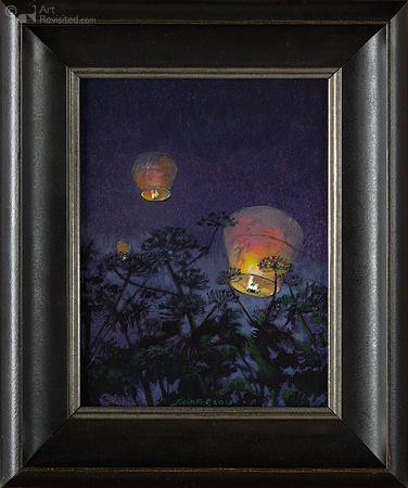 Nachtlucht met lichtballon