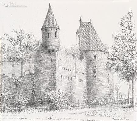 Hoektoren kasteel Doornenburg