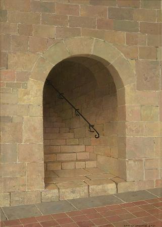 Trapopgang naar de slaapzaal van klooster le Thoronet