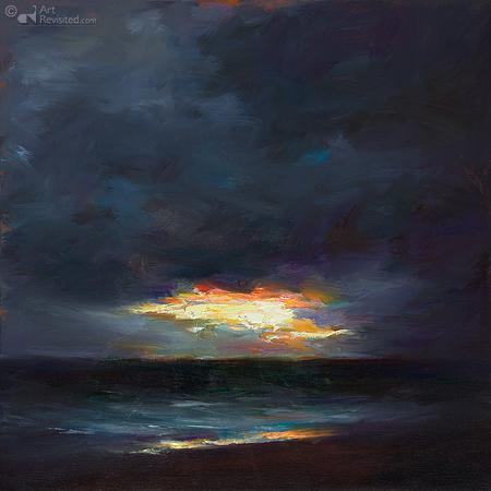 Het laatste licht boven zee