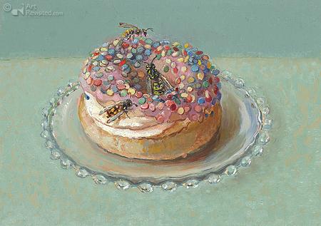 Feestelijke donut in augustus