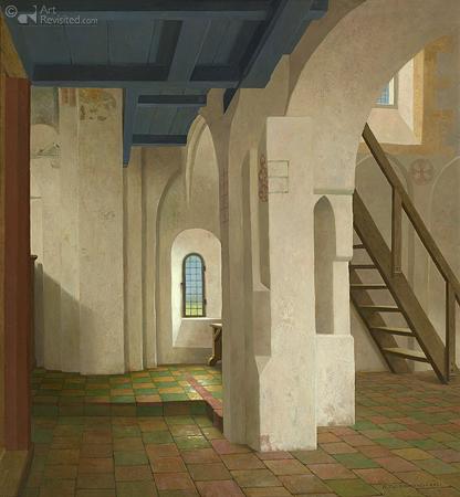 Onder het doksaal in Krewerd