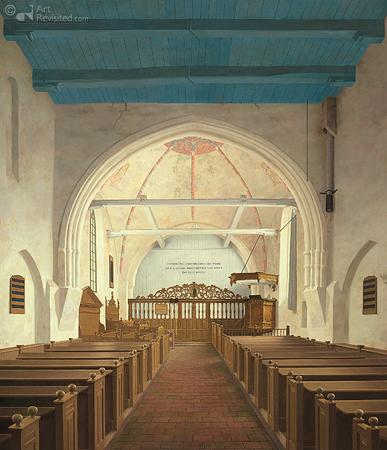 De Andreaskerk in Westeremden, voor de restauratie (13e eeuw)