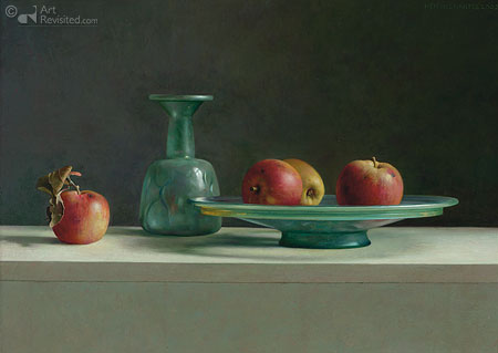 Roman glass with apples
