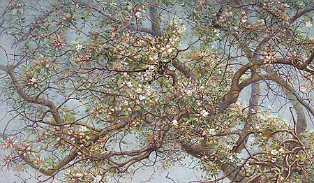 Bloeiende appelboom, Voerstreek (detail)