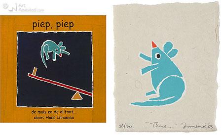 There... met boekje Piep Piep