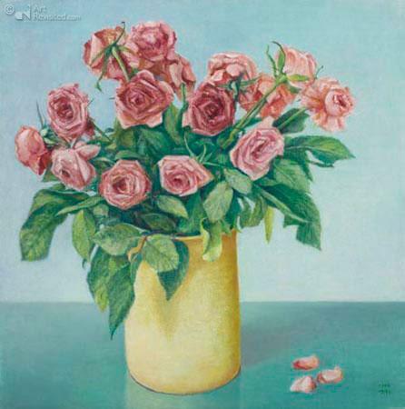 Uitbloeiende rozen