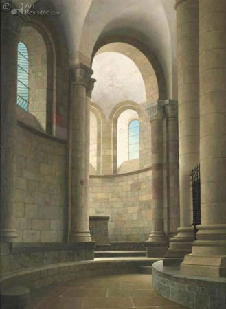 The choir of the church at Conques, France