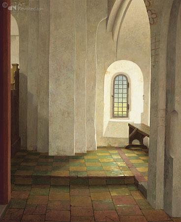 Onder het orgel in de Mariakerk te Krewerd