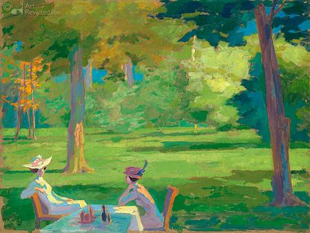 2 dames in park