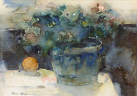 Keulse pot met bloemen