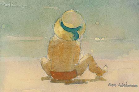 Jongetje aan het strand
