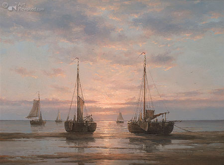 Ships on mud flats