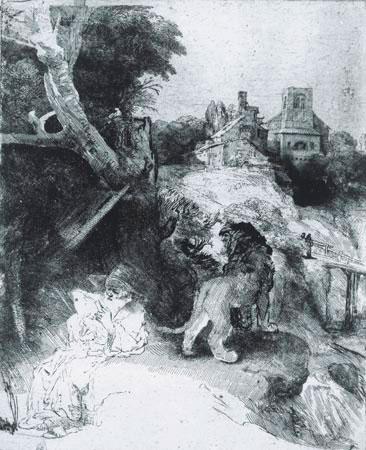 Hieronymus en de leeuw