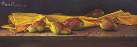 Paysage aux poires